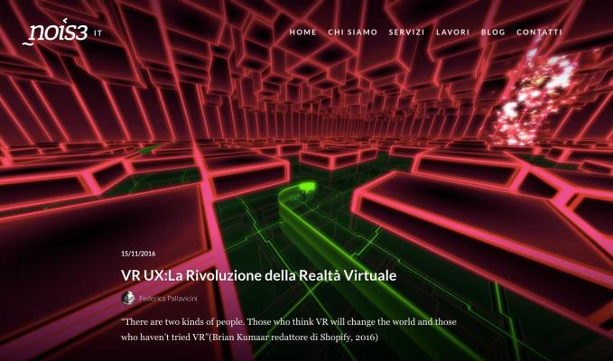 VR UX: LA RIVOLUZIONE DELLA REALTA'VIRTUALE